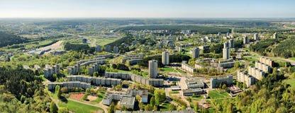 Vilnius Lazdynai district view from bird flight Stock Photography