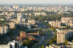 """VILNIUS LITAUEN †""""17 SEPTEMBER, 2014: Flyg- sikt av Vilnius Royaltyfria Bilder"""