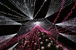 VILNIUS LITAUEN - December 02: sikt av julträdet i Vilnius på December 02, 2017 i Vilnius Litauen I 1994 Vilen Royaltyfri Fotografi