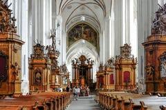 Vilnius, Litauen, Europa, die Kirche von St Anne stockfotografie