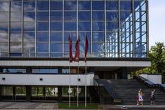 Vilnius Litauen, Europa, teater av 'operan och baletten Royaltyfria Bilder