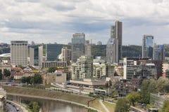 Vilnius, Litauen - 19. Juli 2016: Moderne Stadt des Panoramas von Vilnius Lizenzfreie Stockfotos