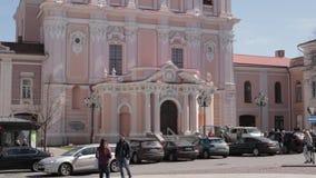 Vilnius, Litauen Kirche von Str Bestimmungsort szenisch Alte Stadt ist UNESCO-Welterbe Berühmt und populär stock video footage
