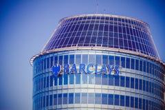 Vilnius, Litauen - 10. Mai 2018: Barclays-Bankbüro in Vilnius Barclays ist eine britische multinationale Bank und stockbilder