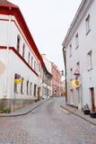 VILNIUS, LITAUEN, am 17. November 2014: Ansicht der Vilnius-Stadt Stockfotografie