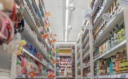 VILNIUS, LITAUEN - 10. NOVEMBER 2016: Maxima Shop Mall in Litauen Einer der populärsten Shops in Litauen Lizenzfreies Stockfoto