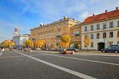 Vilnius, Litauen - 5. November 2017: Stadt Hall Square in der Herbstzeit Stockbilder