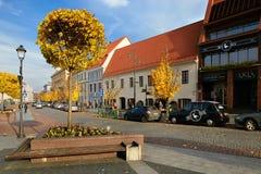 Vilnius, Litauen - 5. November 2017: Stadt Hall Square in der Herbstzeit Stockfotografie
