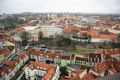 Vilnius (Lithuania). Panoramic view of Vilnius, the capital city of Lithuania. Photo taken from the tower of the university church Royalty Free Stock Photography