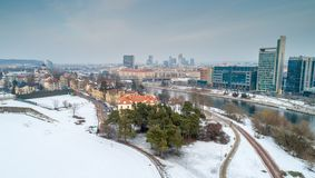 Vilnius, river and town stock images