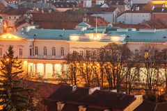 Vilnius, Lithuania: Aerial View of Presidential Palace Royalty Free Stock Photo