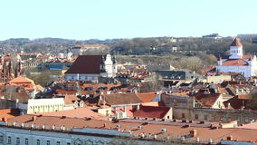 VILNIUS, LITHUANIA. Aerial view at Vilnius., old town. stock footage