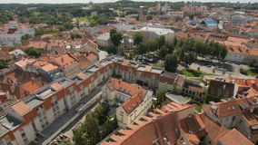 VILNIUS, LITHUANIA. Aerial view at Vilnius., old town. stock video footage