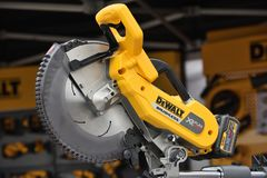 DeWalt power tool. Vilnius, Lithuania - April 25: DeWalt power tool on April 25, 2018 in Vilnius Lithuania. DeWalt is an American worldwide brand of power tools Royalty Free Stock Images