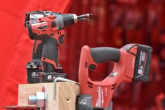 Milwaukee power tools Stock Photos