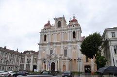 Vilnius,Lithuania-august 24-Church St Casimir (1616) in rainy Vilnius Royalty Free Stock Photos