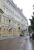 Vilnius,Lithuania-august 24- Historic Building in rainy Vilnius Stock Photos