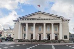 VILNIUS, LITHUANIA - AUGUST 16, 2016: Town hall in Vilnius, Lithuani stock image