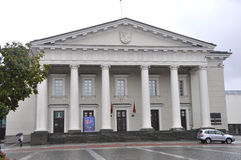 Vilnius,Lithuania-august 24-Town Hall in rainy Vilnius Stock Image
