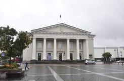 Vilnius,Lithuania-august 24-Town Hall in rainy Vilnius Royalty Free Stock Photos