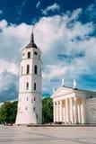 Vilnius Lithuania. Cathedral Basilica Of St. Stanislaus St. Vladislav Stock Photo