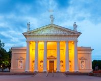 Vilnius. Lithuania. Cathedral Square. Stock Images