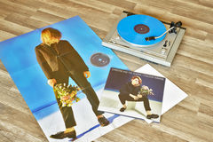 VILNIUS, LITHUANIA - 2015: Christine and the Queens vinyl record Chaleur humaine album Royalty Free Stock Photos