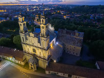 Vilnius, Lithuania: Church of the Ascension at night Royalty Free Stock Image
