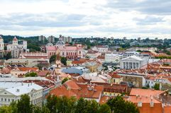 Vilnius, Lithuania Cityscape. VILNIUS, LITHUANIA - OCTOBER 2013: Looking over the city from bell-tower in  Vilnius, Lithuania in October 2013 Royalty Free Stock Photo