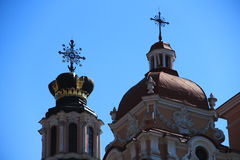 Vilnius, Lithuania. Domes of St.Catherine's Church Stock Photo