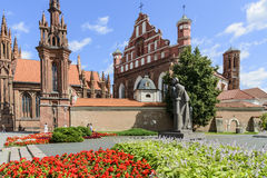 Vilnius, lithuania, europe, church of st anne and the monastery church of saint bernardino Royalty Free Stock Images