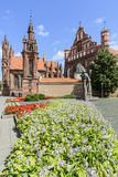 Vilnius, lithuania, europe, church of st anne and the monastery church of saint bernardino Stock Image