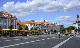 Vilnius, lithuania, europe, town hall square Royalty Free Stock Image