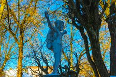 VIlnius, Lithuania - January 06, 2017: Statue of backpacker Jesus. Stock Images