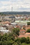 Vilnius, Lithuania - July 19 2016: Panorama moderne town of Vilnius. Capital of Lithuania Royalty Free Stock Images