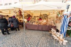 VILNIUS, LITHUANIA - MARCH 4, 2017: Kaziukas Market in Vilnius. Royalty Free Stock Photos