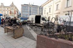 VILNIUS, LITHUANIA - MARCH 4, 2017: Kaziukas Market in Vilnius. Stock Photo