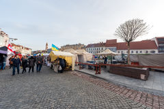 VILNIUS, LITHUANIA - MARCH 4, 2017: Kaziukas Market in Vilnius. Royalty Free Stock Photo