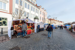 VILNIUS, LITHUANIA - MARCH 4, 2017: Kaziukas Market in Vilnius. Royalty Free Stock Image