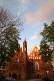 VILNIUS, LITHUANIA - MAY 10, 2014: St. Anne's and Bernardinu Chu. Catholic cathedral in the old town of Vilnius Royalty Free Stock Photo