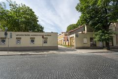 Lithuanian Theatre, Music and Cinema Museum in Vilnius stock photography