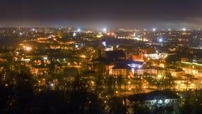 Vilnius, Lithuania night time lapse stock footage