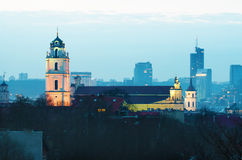 Vilnius, Lithuania at night Royalty Free Stock Photos