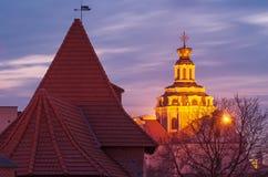 Vilnius (Lithuania) at night Stock Photos