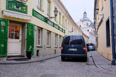 VILNIUS,LITHUANIA, November 17, 2014: view of the Vilnius city Royalty Free Stock Photos