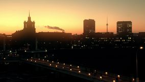 Vilnius, Lithuania old city sunset stock footage