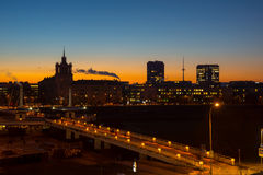 Vilnius, Lithuania old city sunset Stock Photography