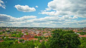 Vilnius, Lithuania, panoramic time-lapse stock footage