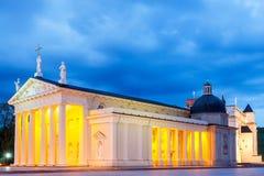 vilnius lithuania Quadrado da catedral fotos de stock royalty free