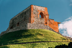 Vilnius, Lithuania. Remains Of Keep Of Upper Castle In Gediminas Hill In Summer Day. Vilnius, Lithuania. Remains Of The Keep Of The Upper Castle In Gediminas royalty free stock images